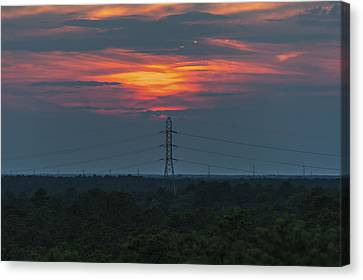 Sunset Power Over Pine Barrens Nj Canvas Print