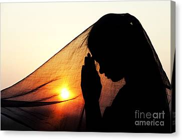 Innocence Canvas Print - Sunset Prayers by Tim Gainey