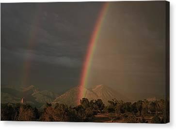 Sunset Rainbow Left Canvas Print