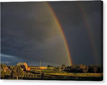 Sunset Rainbow Right Canvas Print