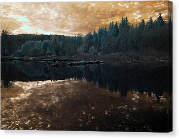 Canvas Print featuring the photograph Sunset by Rebecca Parker
