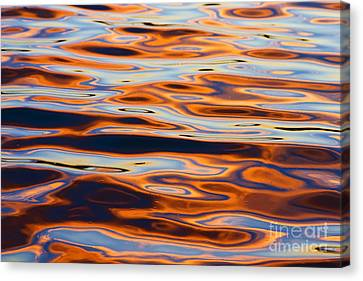 Sunset Reflection In Tempe Town Lake Canvas Print