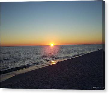Canvas Print featuring the photograph Sunset Reflection by Michele Kaiser