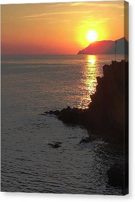 Canvas Print featuring the photograph Sunset Reflection by Natalie Ortiz
