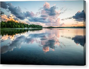 Sunset Relections Canvas Print by Paul Freidlund