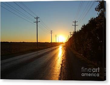 Sunset Road Canvas Print