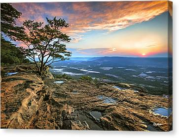 Sunset Rock Lookout Mountain  Canvas Print by Steven Llorca
