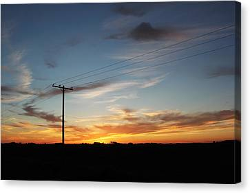 Canvas Print featuring the photograph Sunset by Ryan Crouse