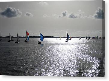 Canvas Print featuring the photograph Sunset Sail by Judy Palkimas