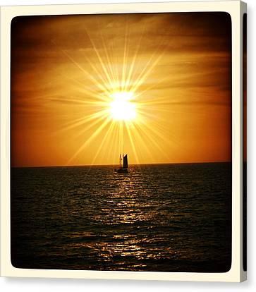 Sunset Sail Canvas Print by Natasha Marco
