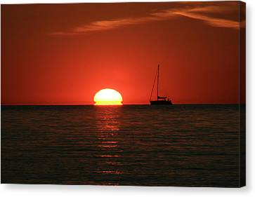 Sunset Sailing Canvas Print by Michael Allen