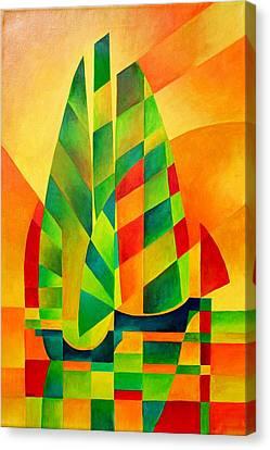 Sunset Sails And Shadows Canvas Print by Tracey Harrington-Simpson