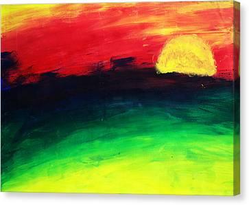 Sunset Canvas Print by Salman Ravish