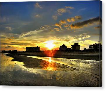 Canvas Print featuring the photograph Sunset by Savannah Gibbs