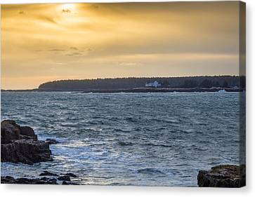 Canvas Print featuring the photograph Sunset Schoodic Peninsula by Trace Kittrell