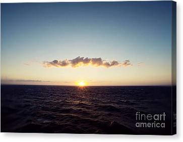 Sunset Sea II Canvas Print by Erin Johnson