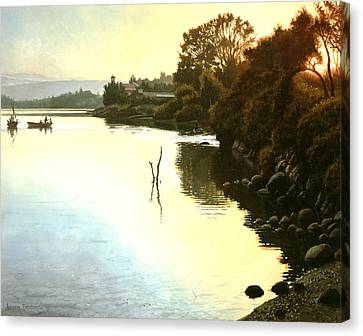 Sunset  Sea Of Galilee  Israel Canvas Print by Graham Braddock