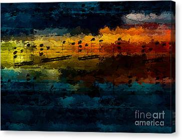 Canvas Print featuring the digital art Sunset Serenade by Lon Chaffin
