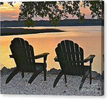 Canvas Print featuring the photograph Sunset Serenity by Carol  Bradley