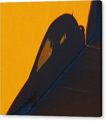 Canvas Print featuring the photograph Sunset Shadow Car by John Hansen