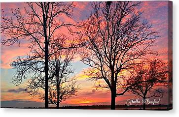 Sunset Shadow Canvas Print by Joetta Beauford