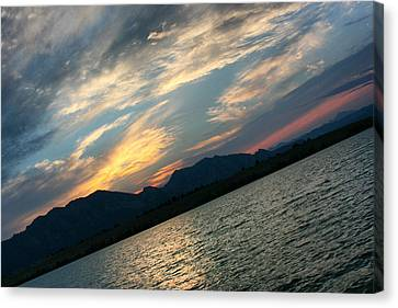 Sunset Silhouette Boulder Colorado Canvas Print