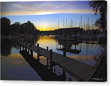 Canvas Print featuring the photograph Sunset Silhouette by Brian Wallace