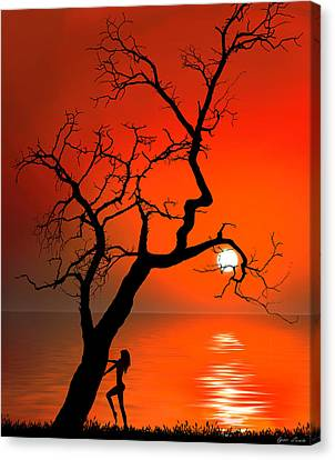Sunset Silhouettes Canvas Print by Igor Zenin