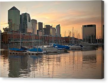 Canvas Print featuring the photograph Buenos Aires Sunset by Silvia Bruno