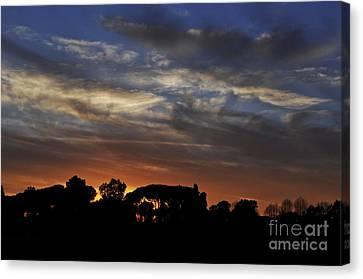 Sunset Canvas Print by Simona Ghidini