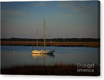 The Anchor Holds 2 Beaufort, South Carolina Boat Art  Canvas Print by Reid Callaway