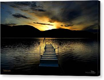 Sunset Skaha Lake Canvas Print by Guy Hoffman