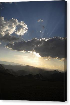 Sunset Skies Over The Andes Canvas Print