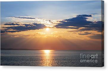 Sunset Sky Over Ocean Canvas Print by Elena Elisseeva