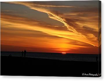 Sunset Sliver Canvas Print