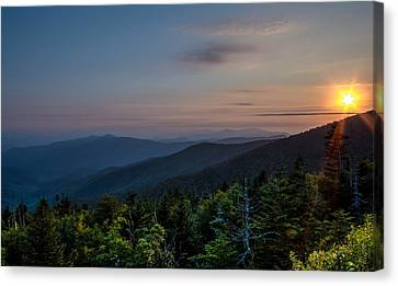 Sunset Smokey Mountains  Canvas Print
