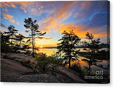 Sunset Spectrum Canvas Print by Charline Xia