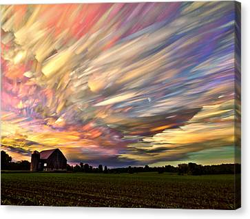 Stacked Canvas Print - Sunset Spectrum by Matt Molloy