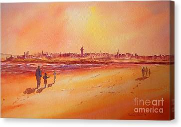 Sunset St Andrews Scotland Canvas Print by Beatrice Cloake