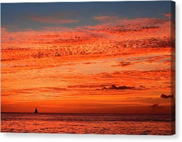 Sunset, St Lucia, West Indies Canvas Print by Susan Degginger
