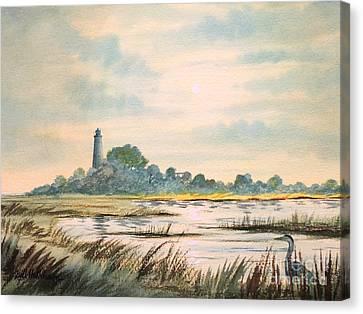 Beauty Mark Canvas Print - Sunset - St Marks Lighthouse Florida by Bill Holkham