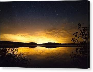 Sunset Star Landscape Canvas Print