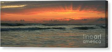 Canvas Print featuring the photograph Carlsbad Starburst by John F Tsumas