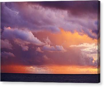 Canvas Print featuring the photograph Sunset Storm by Al Fritz