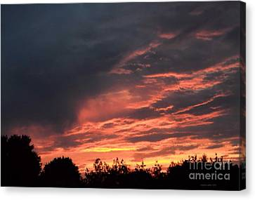 Canvas Print featuring the photograph Sunset Streaks by Luther Fine Art