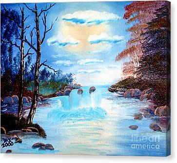 Sunset Stream Canvas Print by Dave Atkins