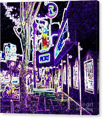 Sunset Strip - Black Light Psychedelic Canvas Print