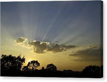 Sunset Sunrays Canvas Print