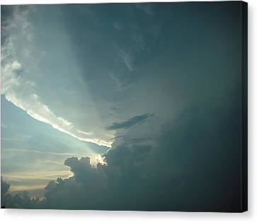 Canvas Print featuring the photograph Sunset Supercell by Ed Sweeney