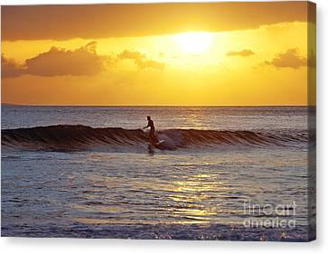 Sunset Surf Maui Canvas Print